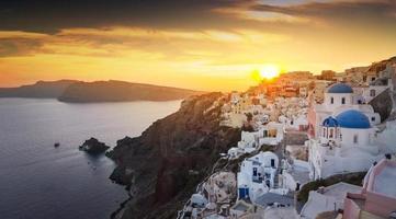santorini in grecia foto