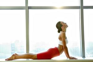 pratica di stretching foto