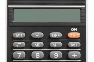 calcolatrice (primo piano) foto