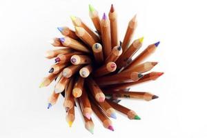 le matite si chiudono in su foto