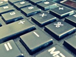 calcolatrice da vicino foto