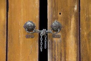 primo piano della porta