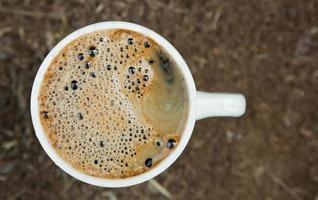 primo piano del caffè foto