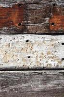 vecchio fondo di assi di quercia foto