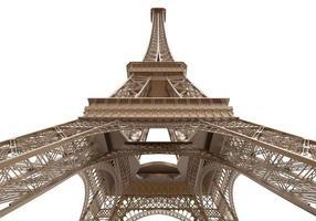 torre eiffel isolata foto