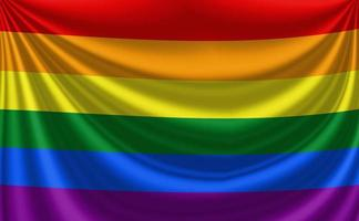 bandiera dell'orgoglio gay arcobaleno foto