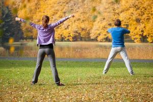 esercizi fisici all'aperto