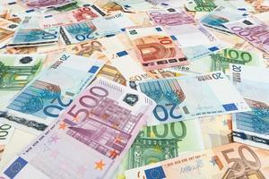 carta moneta euro. sfondo di banconote foto