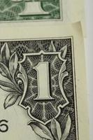macro delle banconote dei soldi del dollaro americano foto