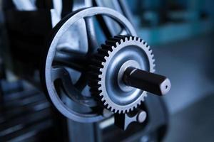 ingranaggio industria ingranaggi macchina, cooperazione commerciale, lavoro di squadra e il concetto di tempo foto