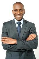 sorridente uomo d'affari di mezza età foto