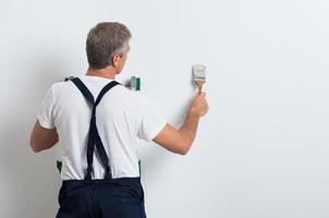 pittore muro dipinto foto