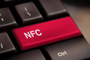 tastiera del computer con tecnologia nfc foto