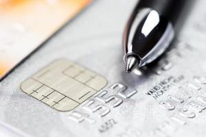 pagamento dello shopping online con carta di credito foto