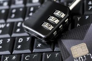 sicurezza della carta di credito Internet foto