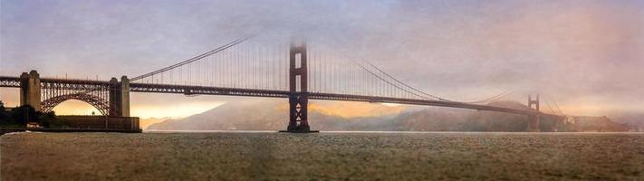 golden gate bridge, baia di san francisco foto