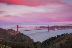Golden Gate Bridge e il centro di San Francisco