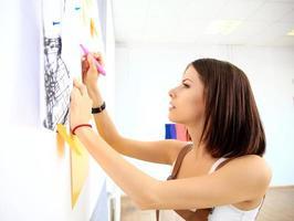 concetto di business, persone, lavoro di squadra e pianificazione foto