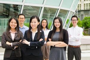 squadra asiatica di affari foto