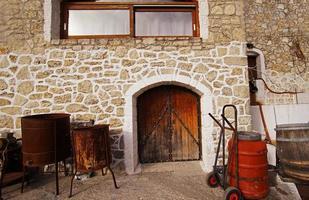 vecchi pedaggi dell'industria dall'isola di Patmos foto