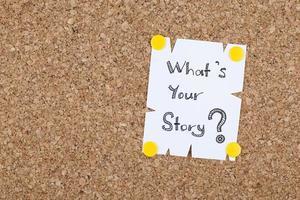 qual è la tua storia? foto
