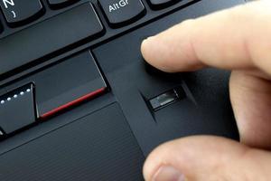 lettore di impronte digitali per laptop foto