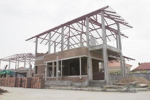 casa in costruzione foto