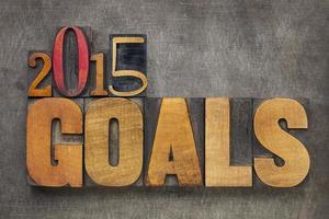 Obiettivi 2015 in legno foto