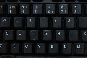 primo piano della tastiera del computer foto