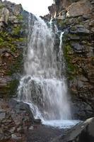 cascata sull'altopiano di Putorana. foto
