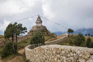 stupa buddista nepalese.