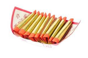 argento, oro, carta joss per la celebrazione cinese foto