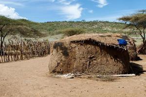 villaggio masai foto