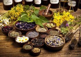 medicina naturale, erbe, mortaio