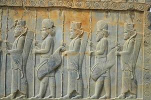 monumento di cultura persiana iran persepolis foto