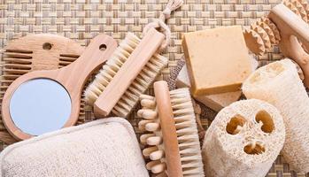 grande set di articoli per la sauna foto