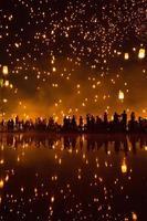 yeepeng, festival dei fuochi d'artificio foto