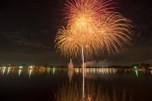 fuochi d'artificio in Tailandia foto