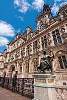 l'hotel de ville (municipio) di parigi, francia foto