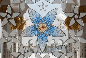 abu dhabi- grande moschea foto