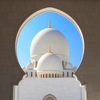 grande moschea di sceicco zayed abu dhabi foto