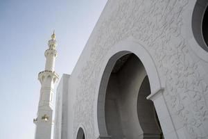 grande moschea di Abu Dhabi foto