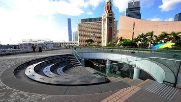 centro culturale di Hong Kong e torre dell'orologio foto