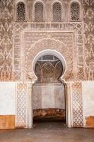 Decorazione della porta a Marrakech, Marocco foto