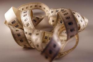 cinta metrica de costura foto