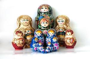 famiglia di bambole nidificate russe foto