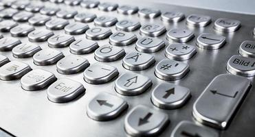 tastiera in metallo foto