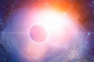 pianeta in un sistema stellare esterno foto