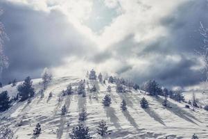 collina coperta di neve