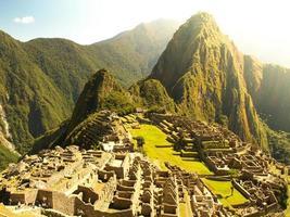 machu picchu in Perù foto